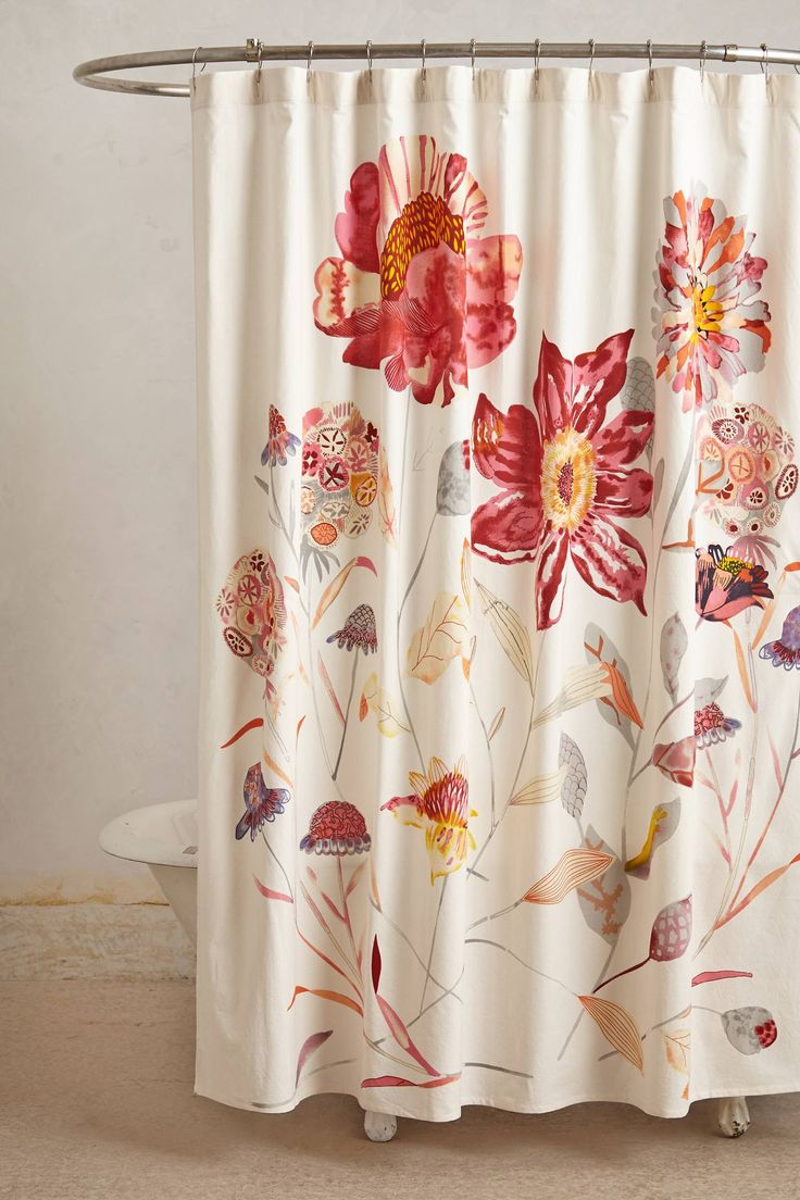 Anthropologie floral shower curtain - Morning Blossom Shower Curtain Anthropologie Com 13 Best Images About Shower Curtains