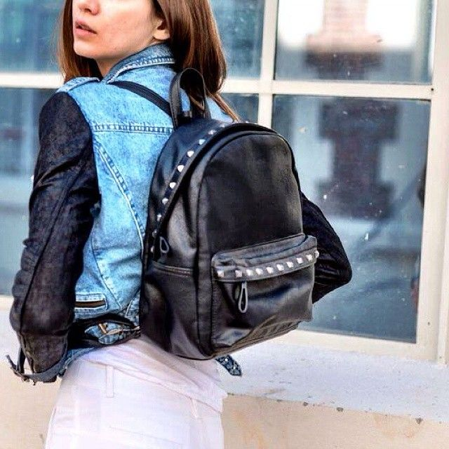 《 New Collection 》#Jean #Jacket #Studs #Backpack #SS15 #Outfit