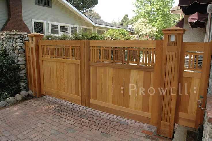 Prowell Woodworks Arts And Crafts Driveway Gate 29 In