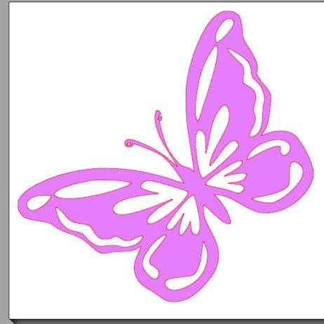 fichier sst ** papillon ** pour silhouette studio cameo