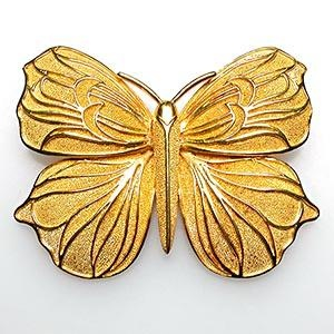 ILIAS LALAOUNIS BUTTERFLY BROOCH PIN SOLID 18K GOLD