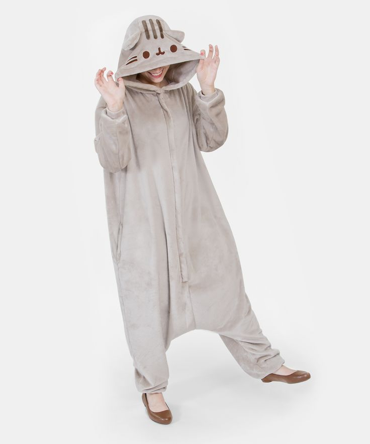 "Pusheen unisex kigurumi costume....y'all, this transcends ""want""...this is. MUST HHAVE!"
