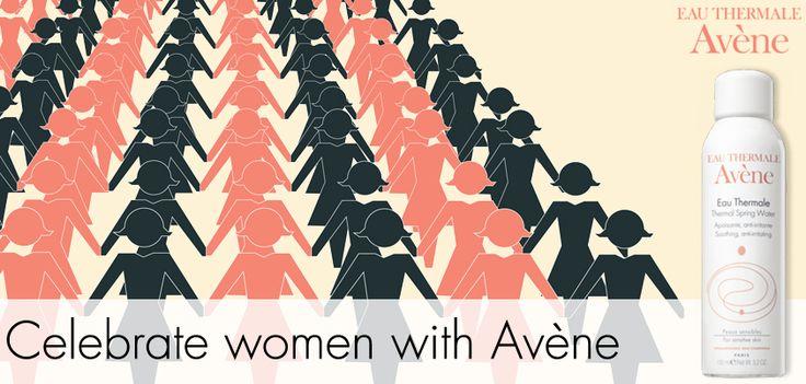 Join Avene India on facebook to celebrate Women's Day!  http://on.fb.me/1fgSHMg #beauty #skincare #india #contest #women #skin #avene