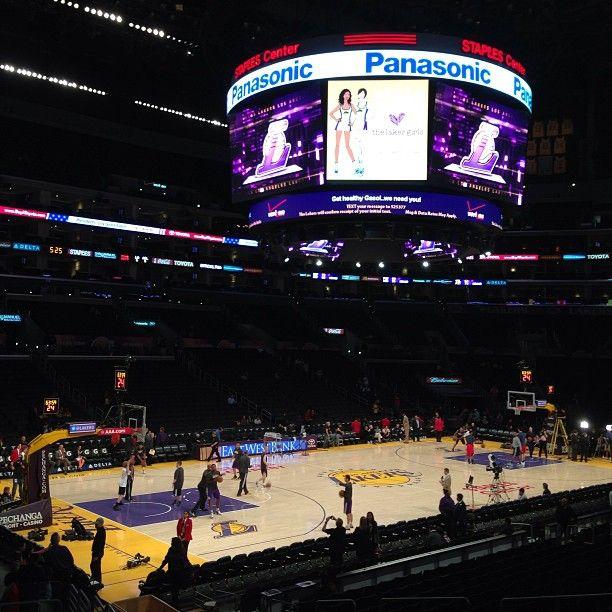 LA Lakers, Staples Center.