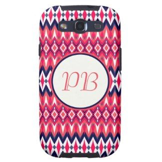 Elegant tribal rhombus native pattern duogram samsung galaxy s3 case #tribal #rhombus #pink #duogram #pattern #native #girly #stylish #sassy #classy #gift