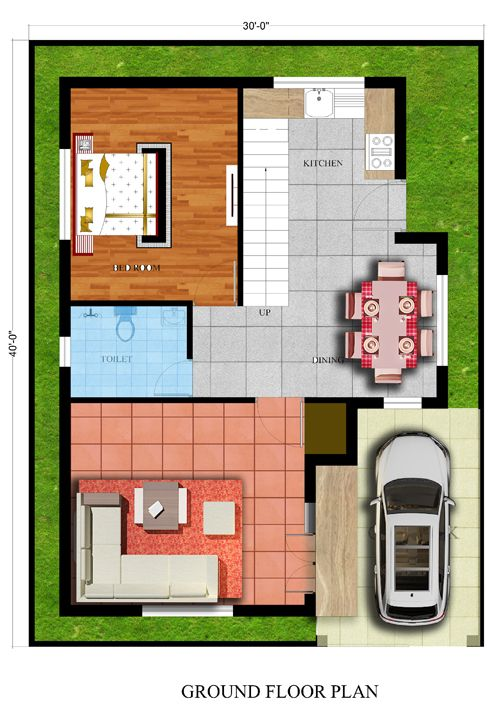 30x40 house plan house plans in 2019