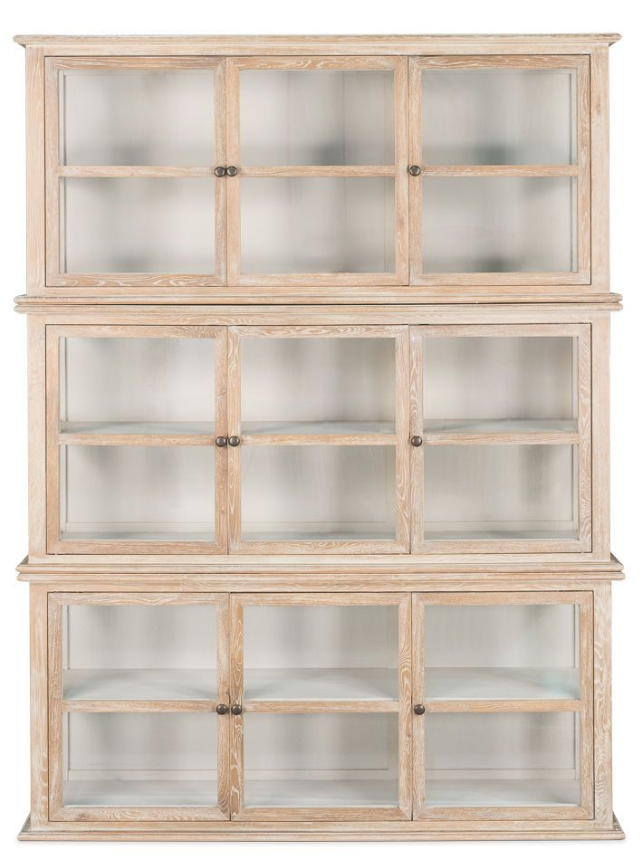 Fabulous WhiteWash Stacked Display Cases, Glass Cabinet,Bookcase ,Curio,86''H. #Unbranded #FrenchCountry