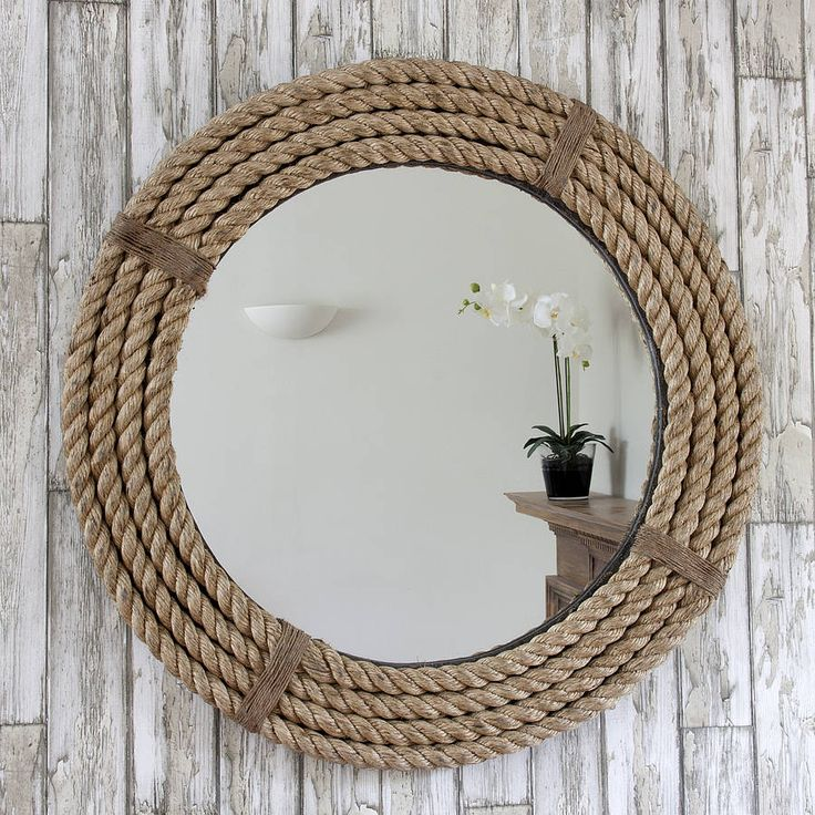 twisted rope round mirror. Black Bedroom Furniture Sets. Home Design Ideas