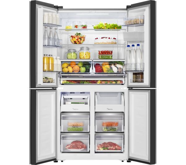 Buy Hisense Rq689n4wf1 Fridge Freezer Black Steel Free Delivery Currys Fridge Freezers Diy Home Cleaning Fridge