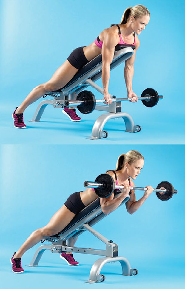 Incline bench for curls. I use the bench for prone incline curls with Dumbbells. Never tried with bar. #weightlifting #weights #biceps