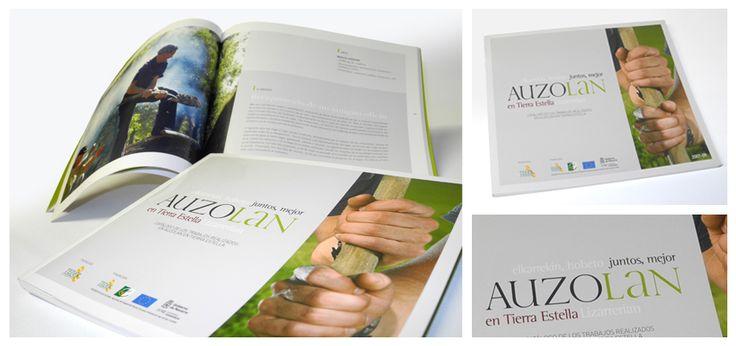 Realización del catálogo Auzolan en Tierra Estella para TEDER - Calle Mayor Comunicación y Publicidad
