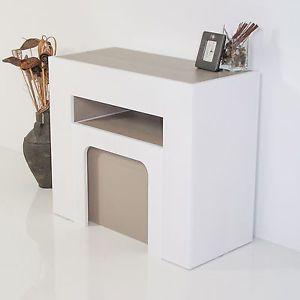 Tavolo consolle allungabile da ingresso Box con panca allungabile cm 42/302