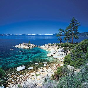 Lake Tahoe, California—A beach and mountain vacation, all in one! http://www.familycircle.com/family-fun/travel/best-ski-towns-for-summer-vacations/#page=4
