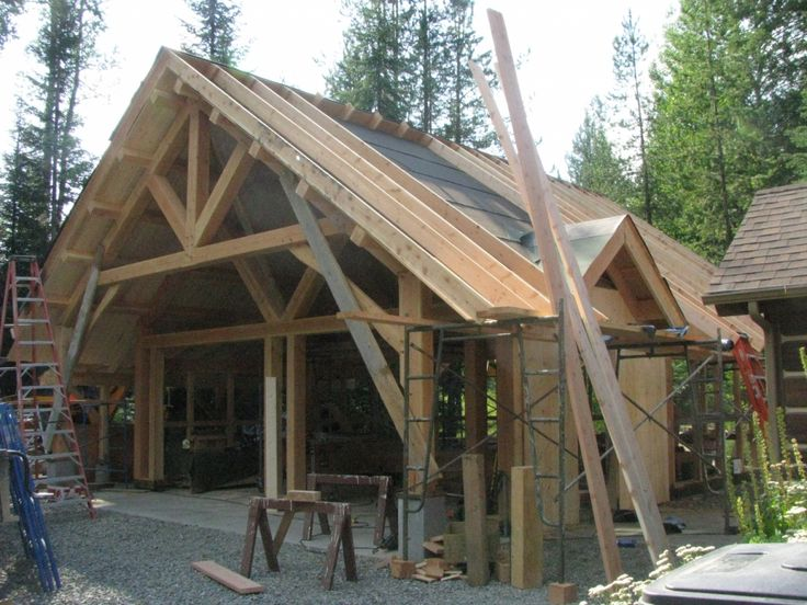 17 best ideas about timber frame garage on pinterest car for A frame garage with loft