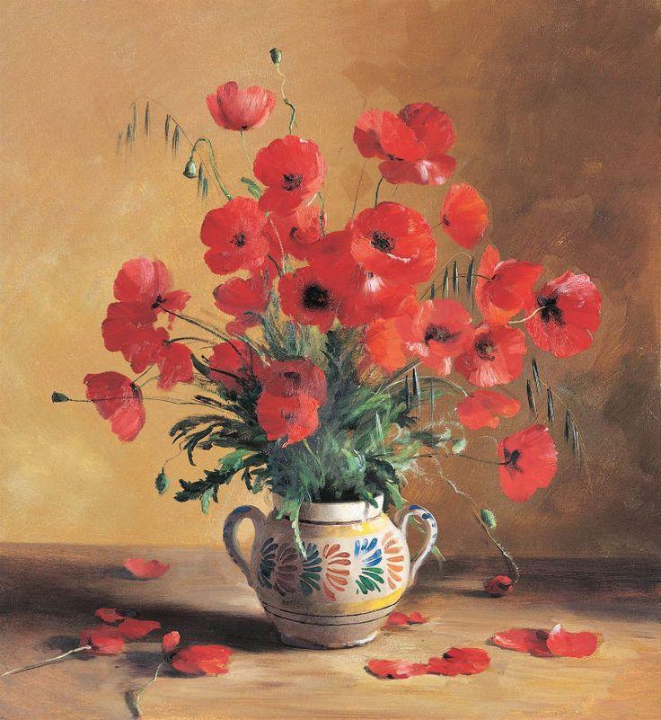 Sergei Tutunov ( b.1958) — Poppies (800×871)
