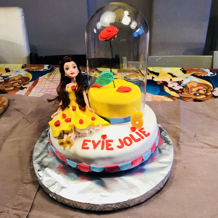 Belle Beauty and the beast toddler birthday cake idea @tobradov