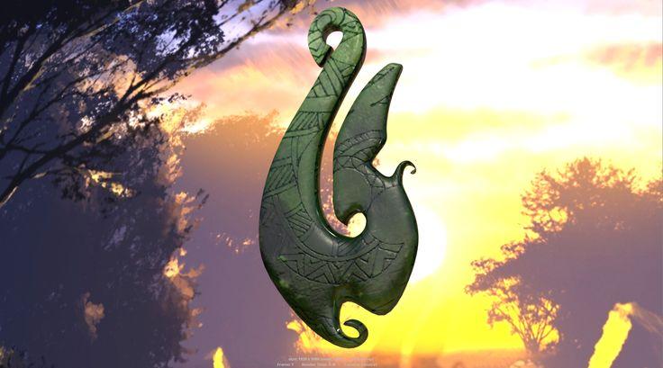 Maya 3d Render of Pounamu