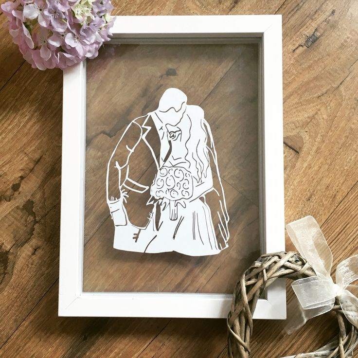 Wedding papercut from photo