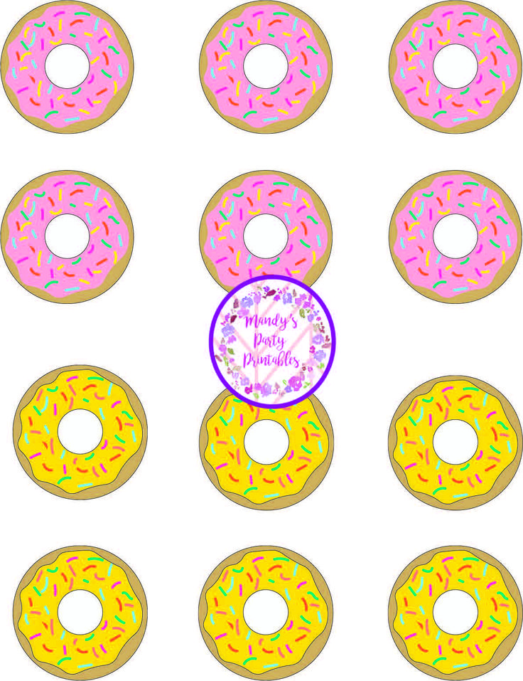 donut party game  tic tac toe