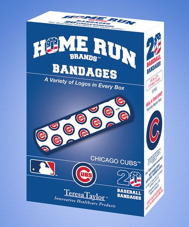 Loving this Chicago Cubs Home Run Bandage Box - Set of Six on #zulily! #zulilyfinds