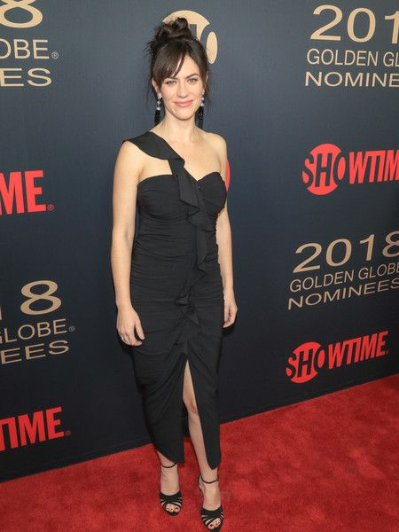 Maggie Siff is seen attending Showtime Golden Globe Nominees Celebration at Sunset Tower in Los Angeles, California.