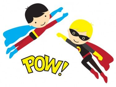 Superhero Printables - Free Superhero clipart, great for invitations, party labels, decorations and lots more.