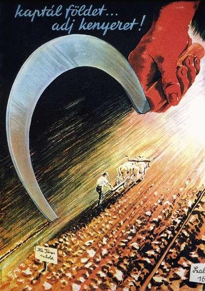 Bayer Pál: Kaptál földet, adj kenyeret! - plakát, 1945