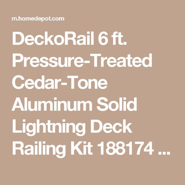 DeckoRail 6 ft. Pressure-Treated Cedar-Tone Aluminum Solid Lightning Deck Railing Kit 188174 at The Home Depot - Mobile