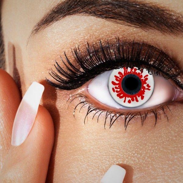 Farblinsen rot, Halloween Party-Linsen wie Blut im Auge