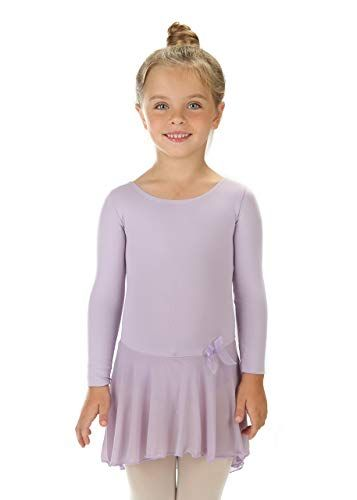 dcc31d871 Amazon.com  Elowel Kids Girls Ruffle Long Sleeve Skirted Leotard ...
