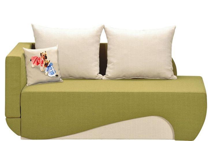 Canapea extensibila pe colt Dino Verde