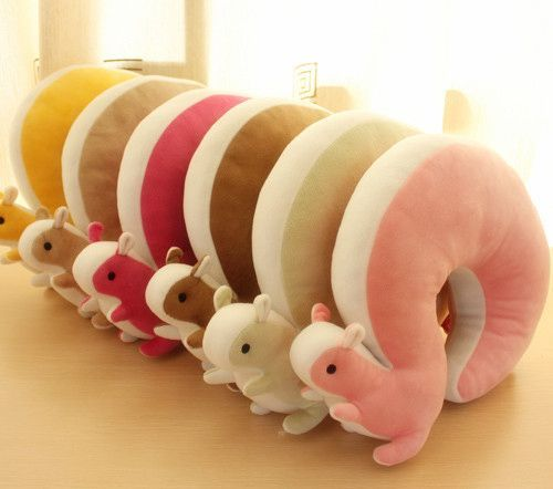 New cute squirrel U - shaped neck pillow - ZZKKO really cool things i might want Pinterest ...