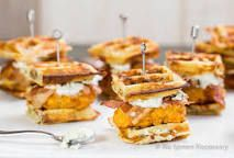 Image result for mini waffle brunch appetizers