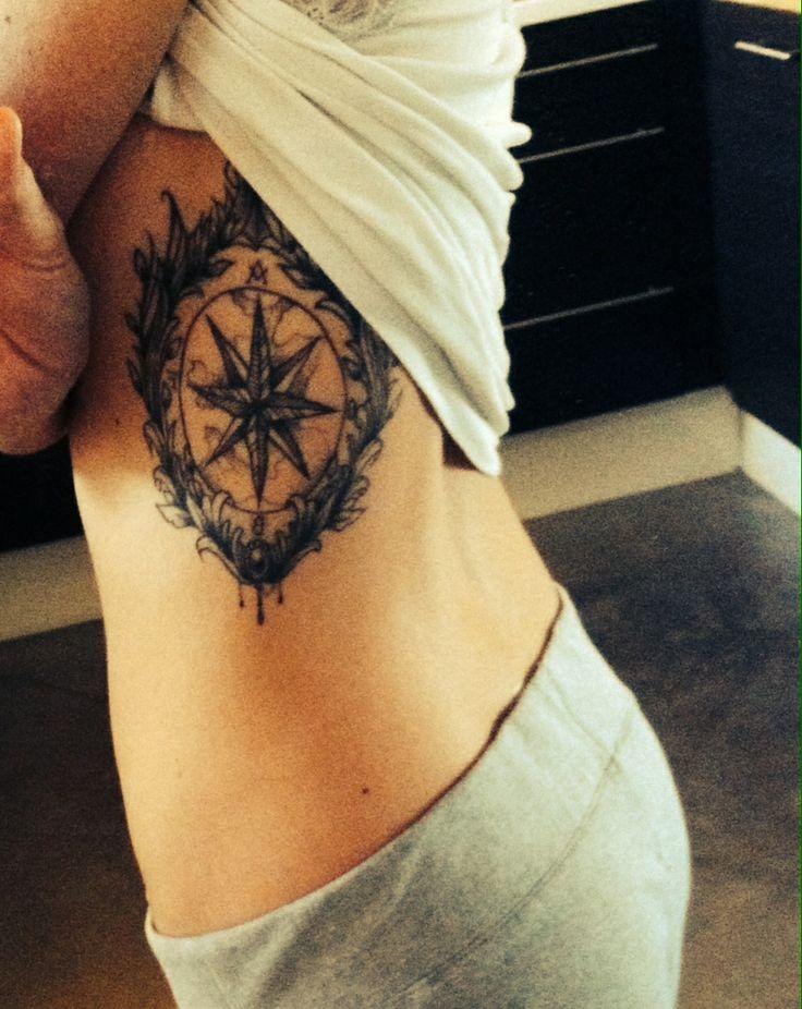 Tatouage sur les cotes boussole planisph re tattoos - Tatouage sur les cotes ...