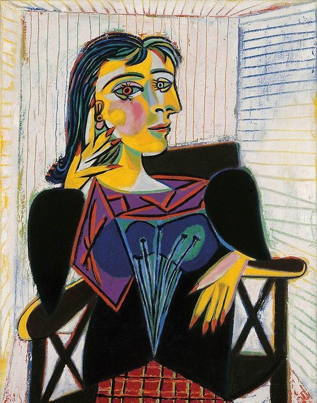 Portrait of Dora Maar-Pablo Picasso' Poster by LexBauer em 2020