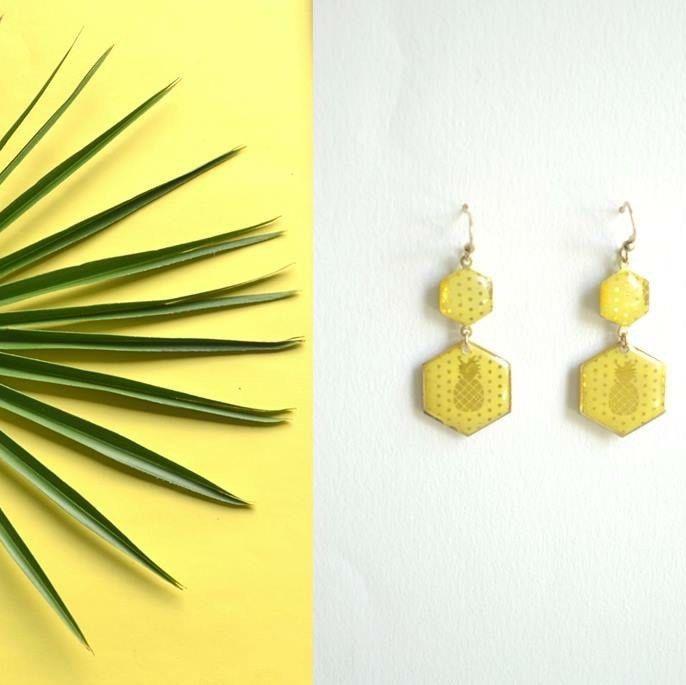 Envie de soleil ? Les nouvelles boucles Jolies Nanas sont aussi disponibles en jaune couleur du soleil et de l'été 2016 ☀️