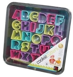 alphabetletters cookie cutters baking tray