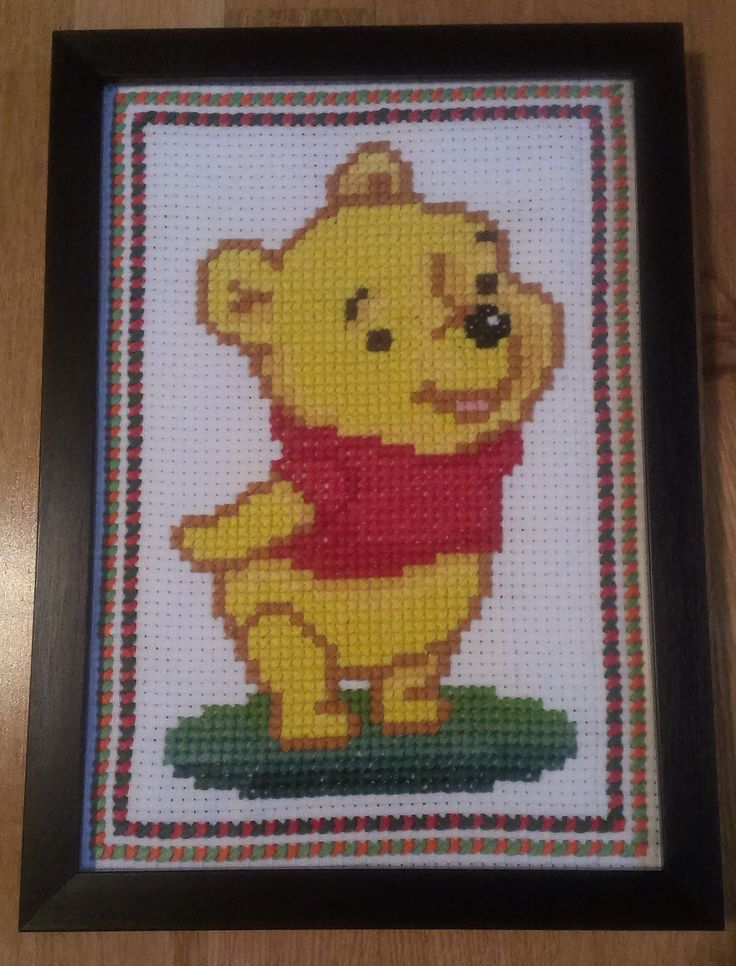 Embroidery. Cute gift for a child. Embroid around the picture to make a frame. MN
