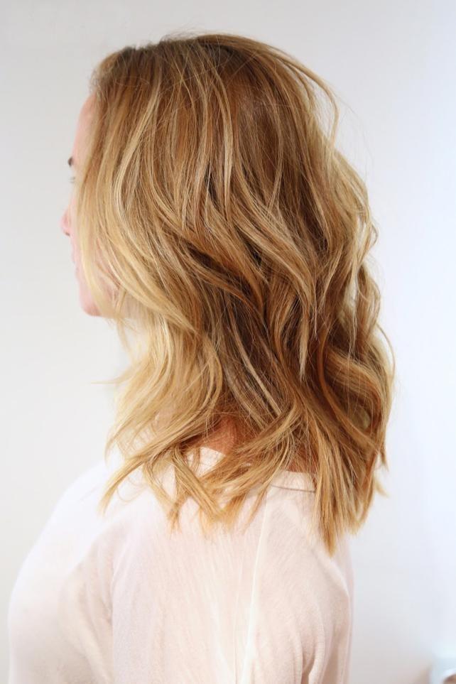 Blonde Mittellange Haare Stufig