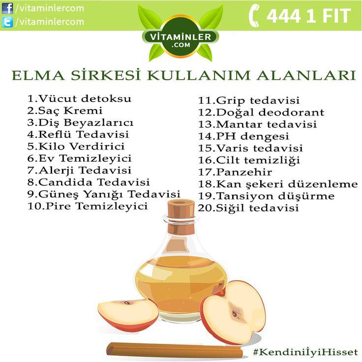Elma sirkesinin kullanım alanları #metabolizma #destekleyici #besin #sebze…