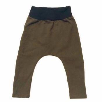 Millie + Roo Boys Harem Pants in Olive