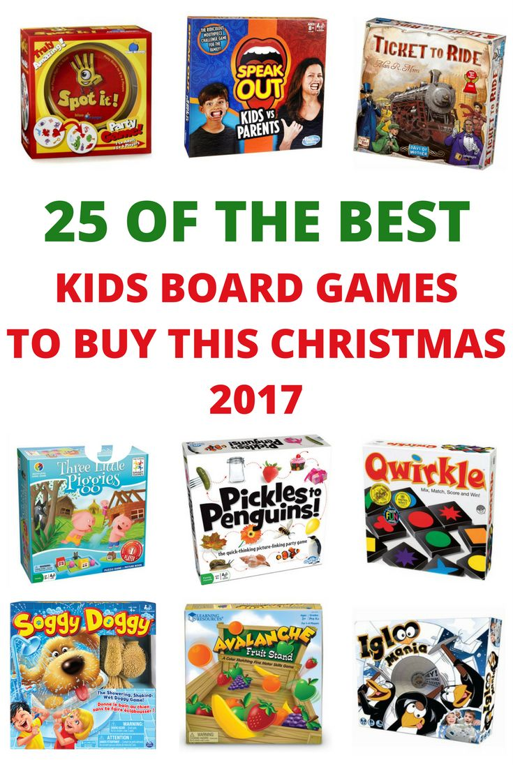 Not sure what to get the kids this Christmas? Here are 25 of the best kids board games, with options for kids of all ages #christmas2017 #boardgames #childhoodunplugged
