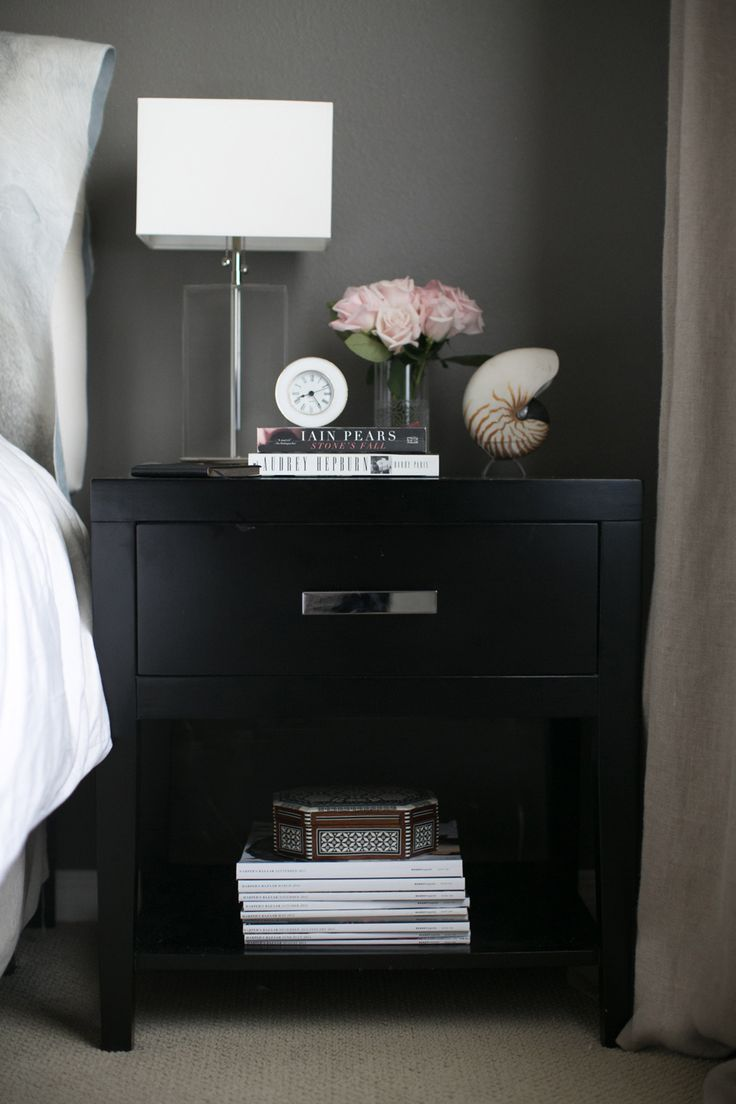Bedside table decor pinterest - Behind The Blog With Small Shop