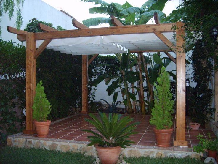 Losas peque as para el suelo y p rgola en el jard n - Losas para jardin ...