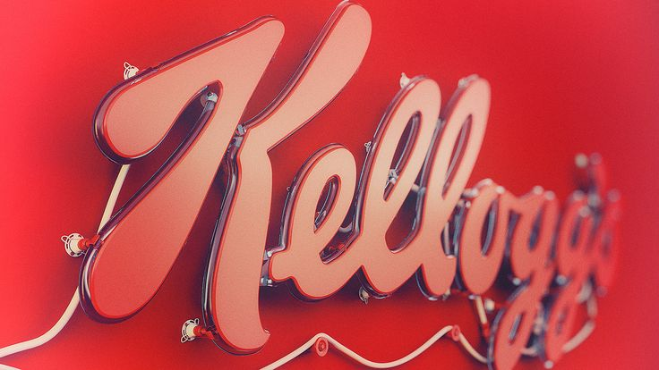3D neon of the Kellogg's Logo. I did this because I love Kellogg's Squares snacks :) So this is a tribute to them!!