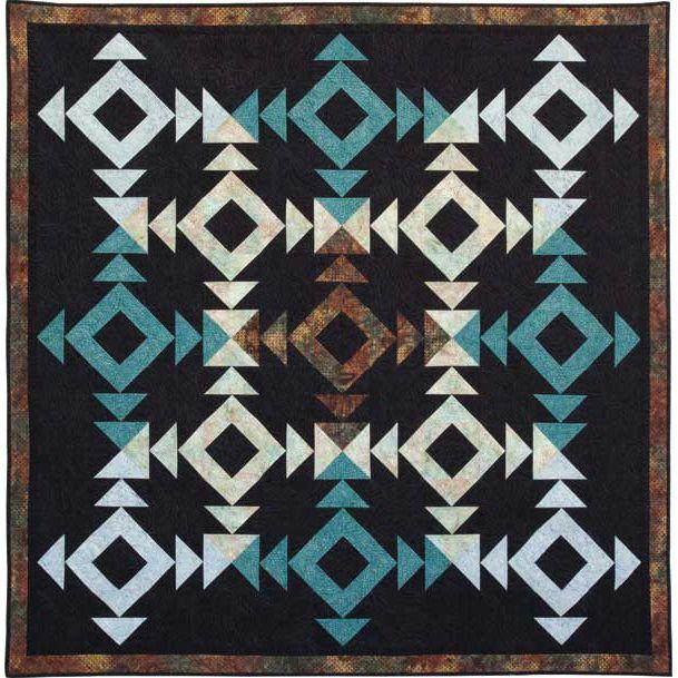 Island Batik Tradewinds Batiks 4 Way Stop Quilt Kit 72 by 72 | Precuts