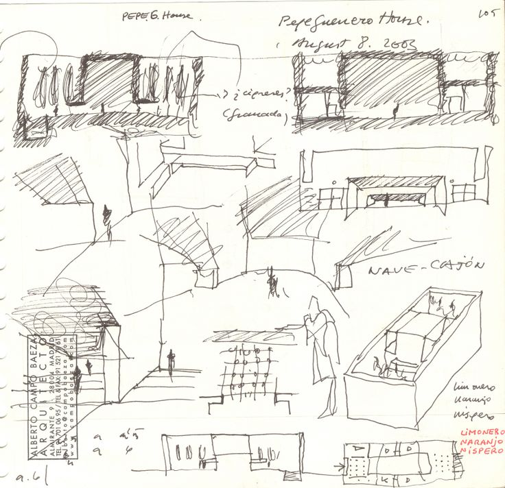 Architecture Houses Sketch