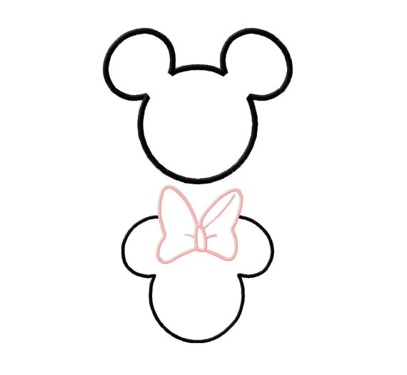 Minnie & Mickey Applique
