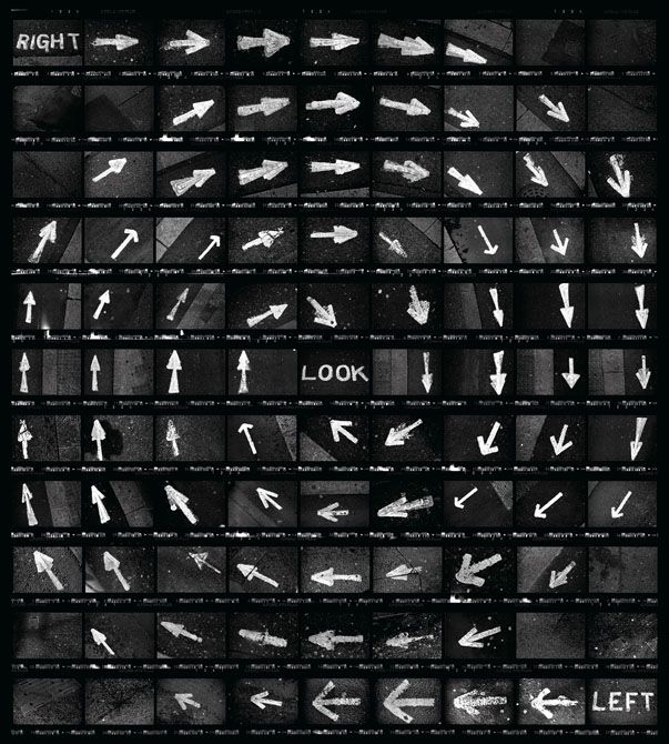 Martin Wilson - Contact Sheet Art Created Using Carefully Exposed 35mm Film