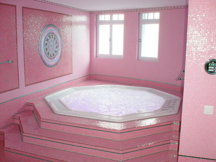 Model Of Bathroom pink decor walls steps to big bubble bath waiting for you luxury… Unique - Fresh pink bathtub Awesome